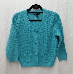 August Silk Sweater with Lucite Buttons